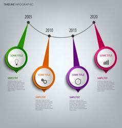 Time line info graphic with round abstract design vector image