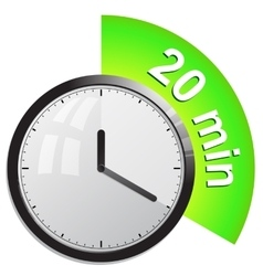 Timer 20 minutes vector