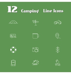 travel line icons for web and mobile minimalistic vector image