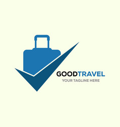 Travel logo holidays tourism business trip vector