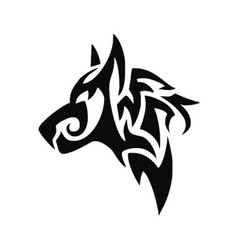 Tribal Dog Head vector