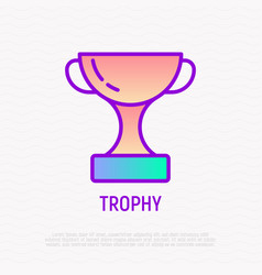 Trophy thin line icon modern vector