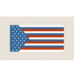 usa and russia mixed flag vector image