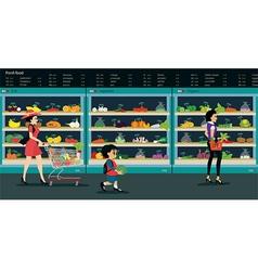 vegetable market vector image