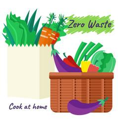 vegetables and fruits vegan food fresh cartoon vector image