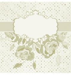 Vintage rose floral card vector image