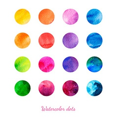 Watercolor dots vector image vector image