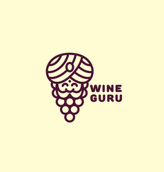 Wine guru logo vector