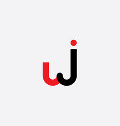 wj logo letter w and j sign symbol logotype vector image
