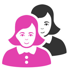 Women flat icon vector