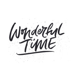 Wonderful time xmas lettering vector