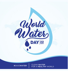 world water day quote vector image