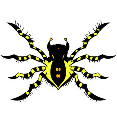 yellow striped spider vector image