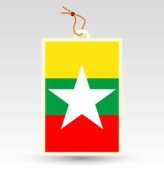 burmese made in tag vector image