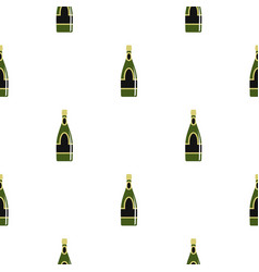 champagne bottle pattern seamless vector image vector image