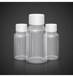 Transparent Bottle vector image