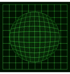 Abstract glowing grid on dark background vector