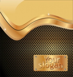 grated metal gold background vector image vector image