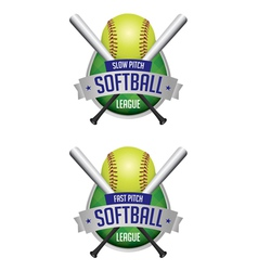 softball league emblems vector image