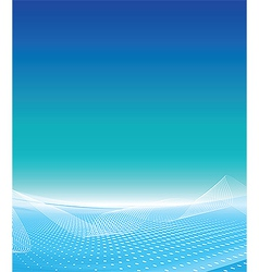 White wave business template vector image vector image