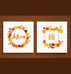 Autumn and fall cards vector