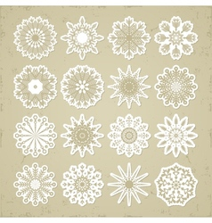 Christmas snowflakes - stickers vector image vector image