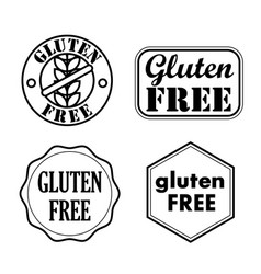 gluten free seals badges icons vector image