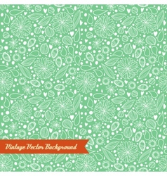 Hand-drawn seamless floral pattern vector image vector image