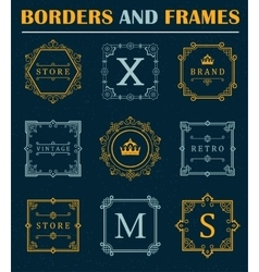 Set of Luxury Borders and Frames vector image vector image