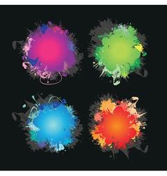 colour splashes vector image