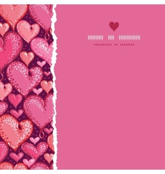 Red Valentines Day Hearts Square Torn Seamless vector image