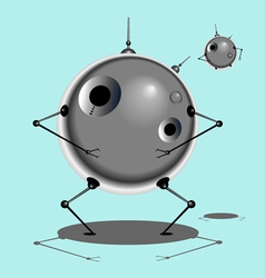 Robot and Baby Robot vector image vector image