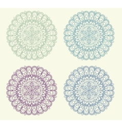 Set of vintage ornament background vector image vector image