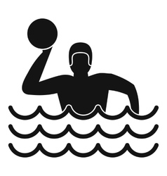 Water polo icon simple style vector image