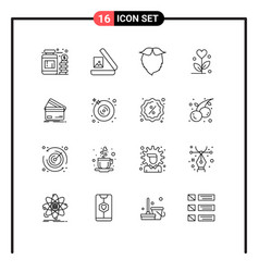 16 universal outline signs symbols business vector
