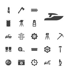 22 industry icons vector