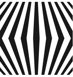 3d seamless pattern with black and white lines vector image