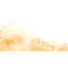Abstract light yellow-orange watercolor texture vector