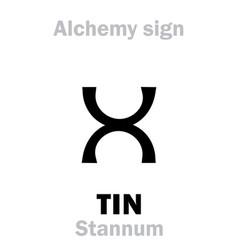Alchemy tin stannum vector