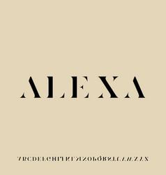 Alexa font luxury glamour alphabet vector