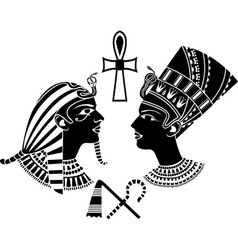 ancient egypt king and qeen vector image