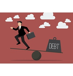 Balancing Businessman and Debt vector