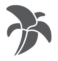 banana glyph icon food and vitamins fruit sign vector image