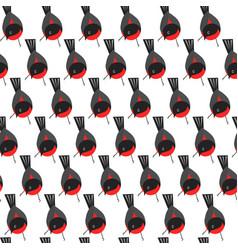 bird different types of animals bullfinch seamless vector image