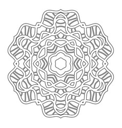 black and white silhouette of a snowflake lace vector image