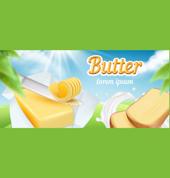 butter advertizing package daily breakfast vector image