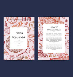 Card or brochure template for pizza vector
