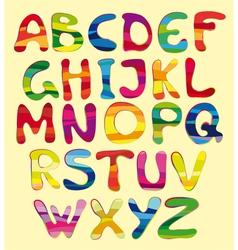 Cheerful alphabet vector