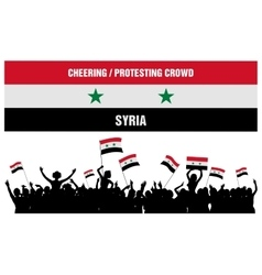Cheering or Protesting Crowd Syria vector image