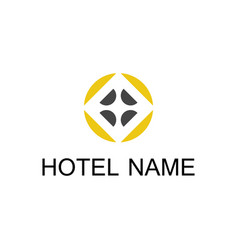 circle decoration hotel logo vector image